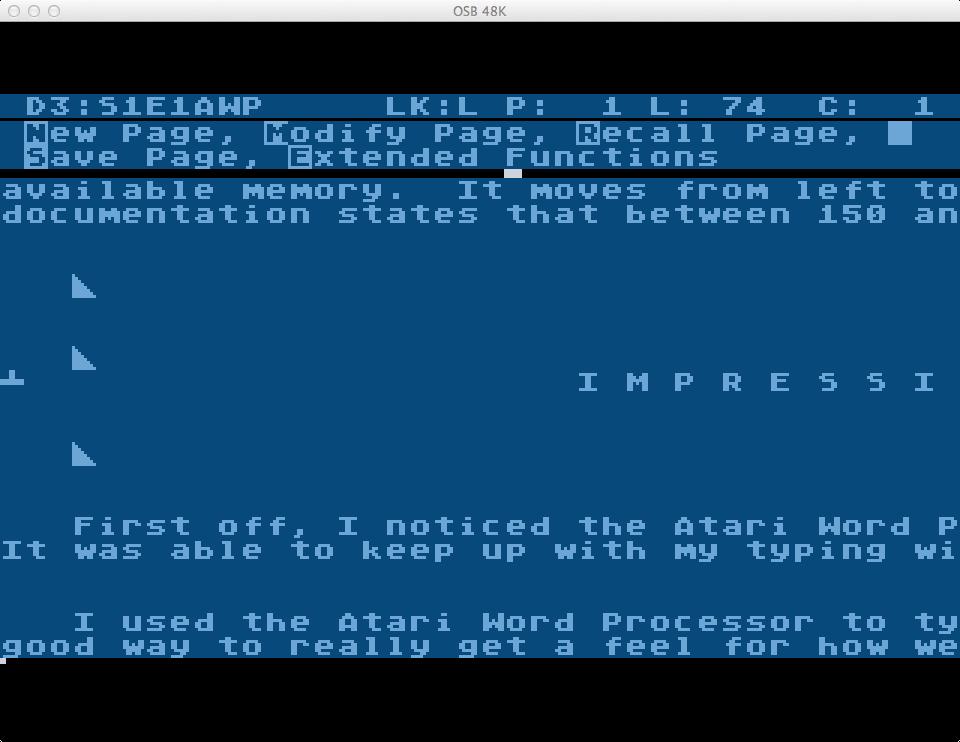 S1E1 Atari Word Processor (1/3)