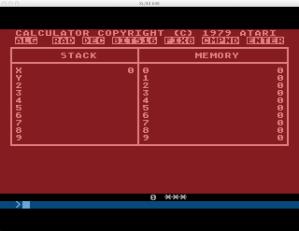 Atari Calculator