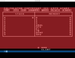 Atari Calculator Interest Mode