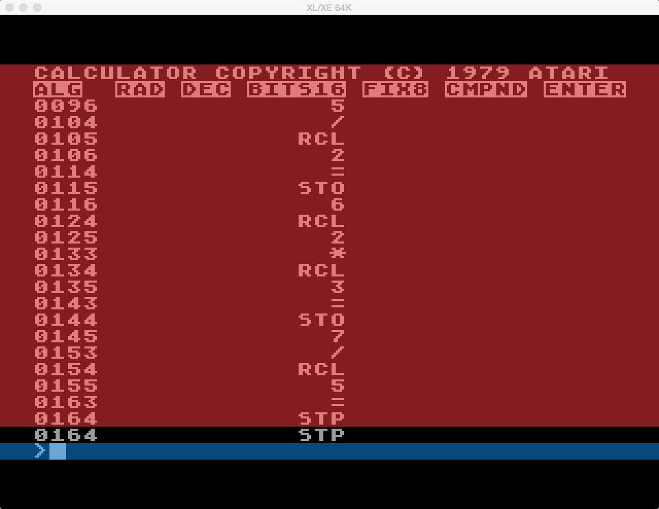 S1E3 Atari Calculator (5/6)