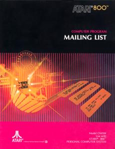 Atari Mailing List