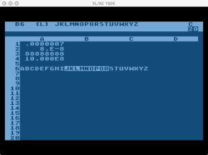 VisiCalc Column Widths