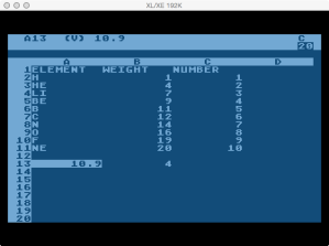 VisiCalc Lookup Function