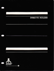 Atari Stock Charting Disk Holder