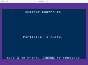 Atari Stock Charting Empty Portfolio