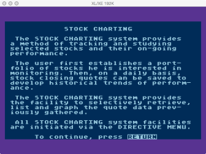 Atari Stock Charting Program Overview