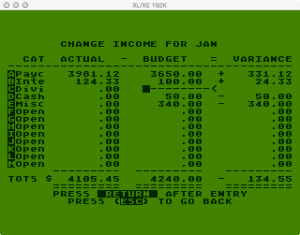Atari Family Finances Budget Change Income