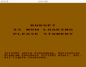 Atari Family Finances Budget Loading