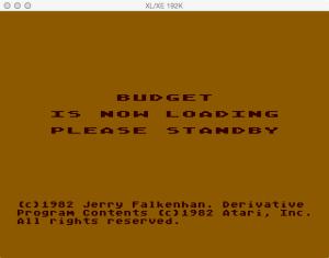 Atari Family Finances Budget Loading