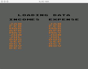 Atari Family Finances Budget Loading Data