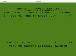 Atari Family Finances Income Program Category Detail