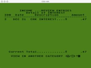 Atari Family Finances Income Program Category Detail