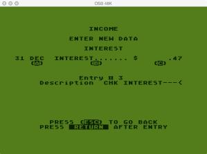 Atari Family Finances Income Program Change Entry