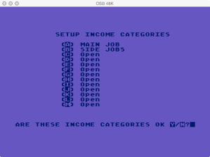Atari Family Finances Reset / New Year Income Categories
