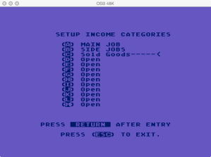 Atari Family Finance Reset / New Year Income Category Edit