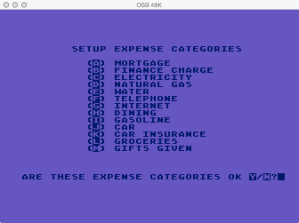 Atari Family Finances Reset / New Year Expense Categories