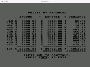 Atari Family Finances Review Finances Detail