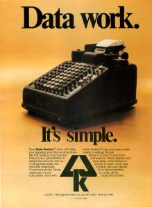 LJK Data Perfect Analog September 1983 Ad