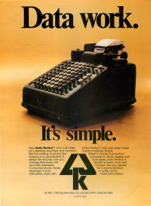LJK Data Perfect Analog September 1983 Ad