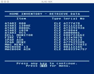 APX Home Inventory Retrieve Browse