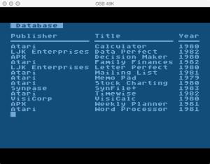 Atari Memo Pad Database