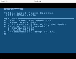 Atari Memo Pad Notebook