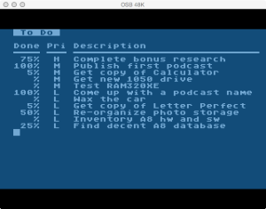 Atari Memo Pad To Do List