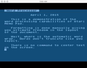 Atari Memo Pad Word Processor