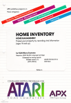 APX Home Inventory Manual Cover