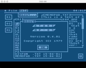 Atari Memo Pad MPOS
