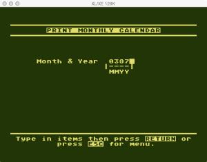 Atari Timewise Print Blank