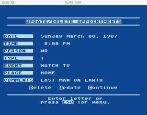 Atari Timewise Update Delete