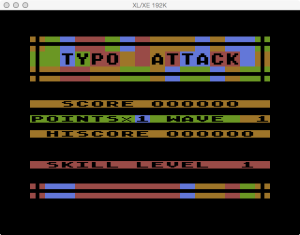 APX Typo Attack Game Start