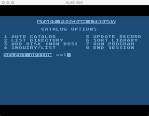 APX Diskette Librarian Main Menu