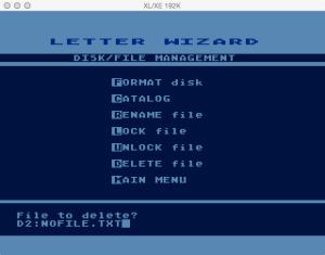 Letter Wizard Disk Delete 1