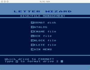 Letter Wizard Disk Format