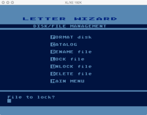 Letter Wizard Disk Lock