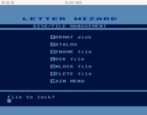 Letter Wizard Disk Lock