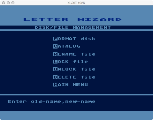 Letter Wizard Disk Rename