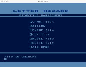 Letter Wizard Disk Unlock