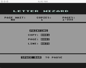 Letter Wizard Printing