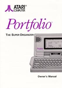 Atari Portfolio 1991 Manual Cover