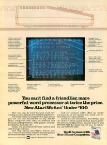 AtariWriter Ad Analog 11 83