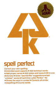 Spell Perfect Manual Cover