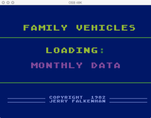 APX Family Vehicle Expense Monthly Loading