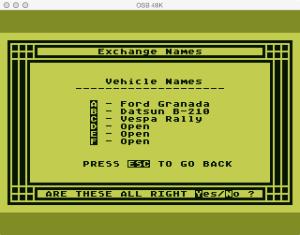 APX Family Vehicle Expense Setup Exchange Names Vehicle Original