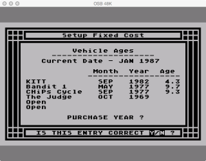 APX Family Vehicle Expense Setup Fixed Purchase Dates