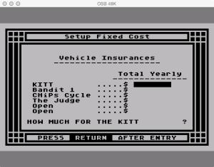 APX Family Vehicle Expense Setup Fixed Insurance