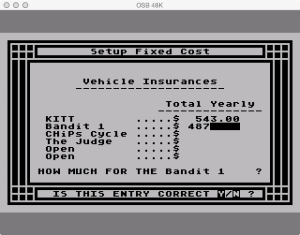 APX Family Vehicle Expense Setup Fixed Insurance Correct