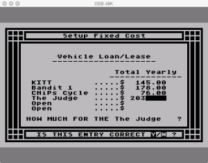 APX Family Vehicle Expense Setup Fixed Loans